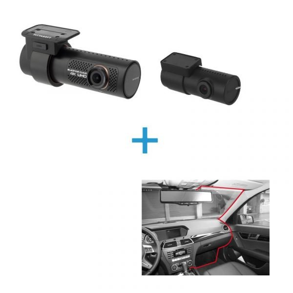 BlackVue DR900X-2CH voor achter dashcam+inbouwservice