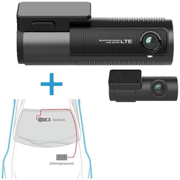 BlackVue-DR750-2CH-LTE dashcam voor-achter + inbouwservice